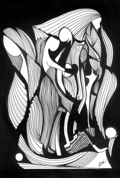 abstract pen & ink drawing
