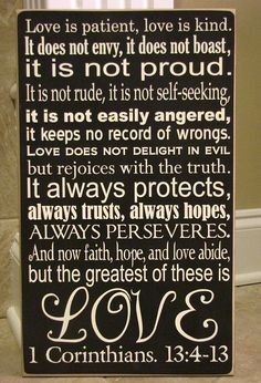 Love is patient...