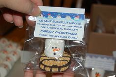 Melted Snowman S'mores Recipe (includes printable gift tags)