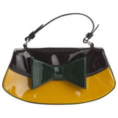 Stunning Moschino Handbag Purse in Patent by oceanandmorejewels