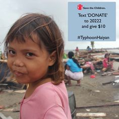 Text 'DONATE' to 20222 to donate $10 to support our work to help kids affected by #TyphoonHaiyan / #YolandaPH. Standard rates apply.  https://secure.savethechildren.org/site/c.8rKLIXMGIpI4E/b.8855857/k.E53D/Donate_to_the_Typhoon_Haiyan_Childrens_Relief_Fund/apps/ka/sd/donor.asp?msource=wespithp1113