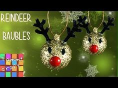 DIY: Christmas Tree Reindeer Decoration - YouTube