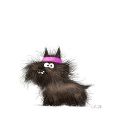 By Wiebke Rauers - Tiersprüche - Caricature - Neve S. Cute Animal Illustration, Cute Animal Drawings, Cute Drawings, Illustration Art, Cartoon Dog, Cute Cartoon, Caricature, Illustrator, Scottie Dog