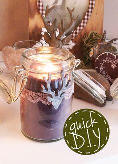 Kerzen Gießen als Wichtel-; Weihnachtsgeschenk, Mitbringsel oder zum Nikolaus! Kerzen gießen geht schnell und man kann das Glas anschließend hübsch schmücken!