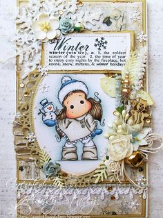 "OOAK Magnolia ""Tilda With Little Snowy Snowman "" Wooden Wall Hanging by ASprinklingOfGlitter on Etsy"