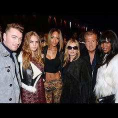 London Fashion Week - Sam Smith, Cara Delevingne, Jourdan Dunn, Kate Moss, Mario Testino and Naomi Campbell at Burberry runway show  http://fashiontube.com/videos/yucmto/burberry-fw-1516-runway-show/