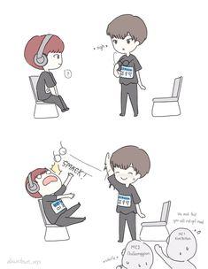 Kpop Fanart, K Pop, Funny Moments, My Sunshine, Boy Groups, Chibi, Fan Art, In This Moment, Cartoon