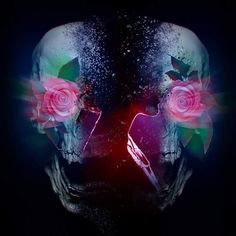 #graphics #graphicdesign #skull #rose #designspiration #artgalaxies #artspotlight #photoshop