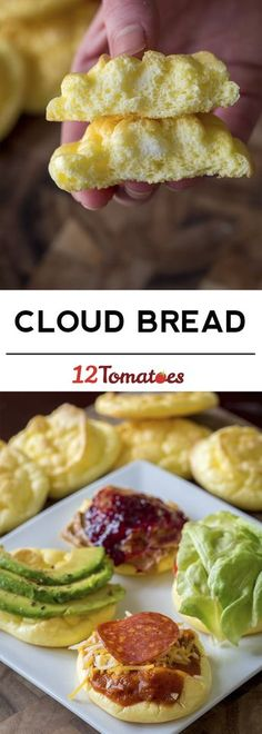 Cloud Bread -- Low-fat, gluten-free, and only three ingredients!