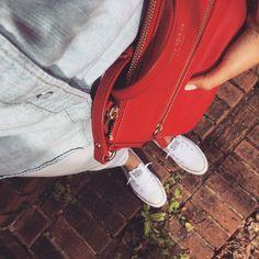 Sunday. #ootd #fromwhereistand #converseshoreline #converse #katespade #katespadebag #jeans #jeansshirt #levis #levisshirt #whitepants #mango #polishgirl #fashionideas #whatiweartoday #sundayfunday #outfitofaday