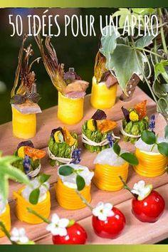 50 ideas for an original aperitif Tapas, Vol Au Vent, Antipasto, Bio Food, Cocktail Party Food, Food Sculpture, Party Finger Foods, Appetisers, Food Humor
