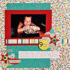 Bright birthday layout!