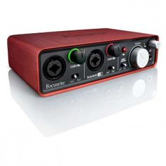 Focusrite Scarlett 2i2 USB Audio Interface - 2 mic preamps, 24-bit/96kHz digital conversion
