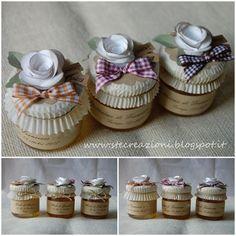 vasetti di miele- bomboniere. stecreazioni