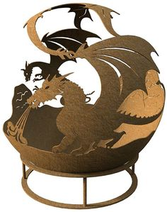 Dragon fire pit - fire pits, fire bowls, dragons