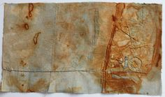 Gwen Hedley -Naturally made marks and lines using rusty items wrapped in wet cloth