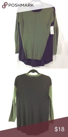NWT A.n.a. Olive green and black tunic top BRAND NEW. Bundle 3+ from me and save 15%, only pay shipping ONCE, and get a free gift! a.n.a Tops Tunics