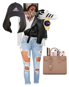 """""""😩"""" by stylesbyjade ❤ liked on Polyvore featuring Victoria's Secret, Topshop, Machine, adidas Originals, adidas, Rolex, Mead and Yves Saint Laurent"""