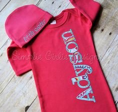 Personalized baby gown with or without by SimplieGirlieDesigns