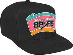 San Antonio Spurs Mitchell   Ness NBA Vintage Logo Black Throwback Snap  Back Hat  Amazon.co.uk  Sports   Outdoors 69226a62c60e