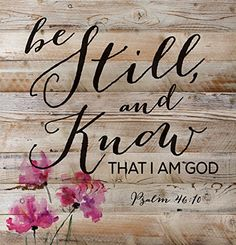 Be Still and Know That I Am God Psalm 46:10 12 x 12 inch Wood Board Plank Wall Sign Plaque P Graham Dunn http://www.amazon.com/dp/B011W532CO/ref=cm_sw_r_pi_dp_YlFgwb03Y8SCK