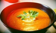 Gust Verde: Supa crema de linte rosie