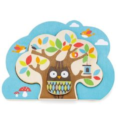 Skip Hop Treetop Friends Nesting Tree Puzzle with Owl Wooden Puzzles, Wooden Toys, Enigma, Wishes For Baby, Top Toys, Bugaboo, Baby Games, Baby Boutique, Toy Store
