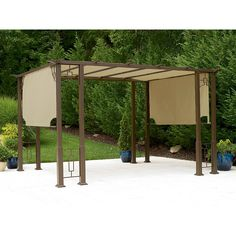 Smart 180 x 300cm stone sliding outdoor roof awning bi1830s outside pinterest pergola - Tent tuin pergola ...