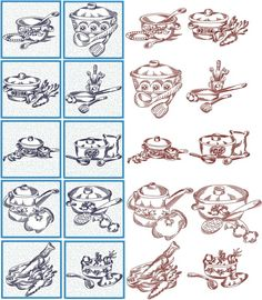 Advanced Embroidery Designs - Kitchen Quilt Block Set