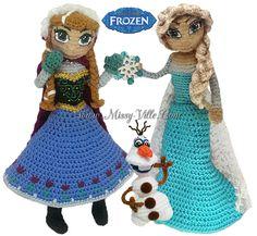 Disney's FROZEN - Elsa, Anna, Olaf Crochet SET by MissyBaque.deviantart.com on @DeviantArt