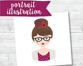 Customized Printable Personal Portrait, Digital Download, Gift, Business Card, Wedding Invite, Digital File Only