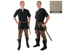 Medieval Tunic Natural Color Size Large