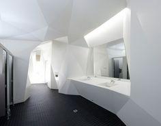 Corian® public bathroom.