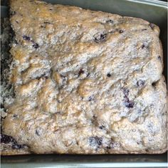 Blueberry pie filling, one egg, and box of vanilla cake mix. - very moist