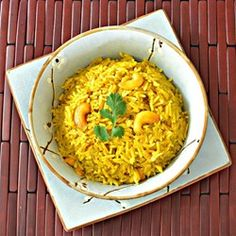 """Coconut Curried Rice with Cashews 