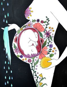 Garten-8.5 x 11/ inspirierende Kunst / Kunst von StudioSpiritYSol