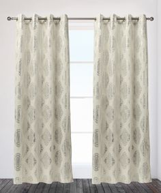 Look what I found on #zulily! Off-White Augustus Curtain Panel - Set of Two by Exclusive Home #zulilyfinds