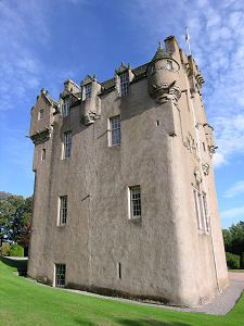 Crathes Castle, near Aberdeen in North East Scotland...it looks very secure.