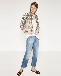 ZARA - PROMOTIONS - EMBROIDERED JACKET