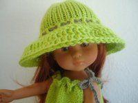 Tuto chapeau tricot crochet pour poupées chéries de corolle.