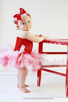 SALE White And Red Baby Tutu Dress Headband By BBOWSBOUTIQUE