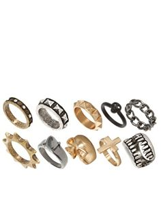 #NEED <3 ASOS Skull Fangs Mega Ring Pack
