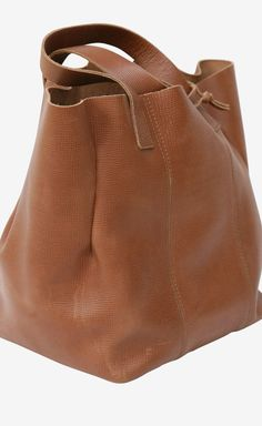 Caramel Leather Tote // MARNI