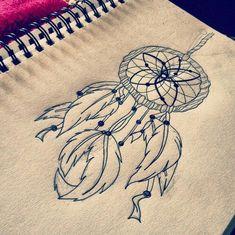 modèle de tatouage attrape rêve qu'on peut personnaliser au gré de ses envies