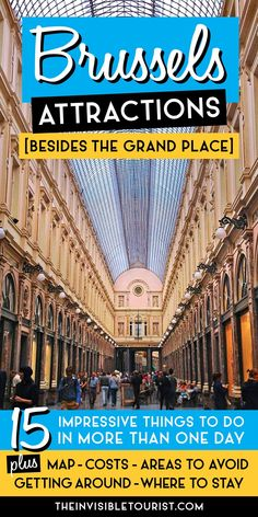15 Impressive Brussels Attractions (Besides the Grand Place) • Here's why you should visit Brussels for more than one day. Includes map, costs, areas to avoid, getting round and where to stay! #belgium #brussels #bruxelles #invisibletourism