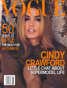 Cindy Crawford 1991, Vogue magazine cover