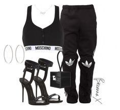 """""""Untitled #3336"""" by breannamules ❤ liked on Polyvore featuring Giuseppe Zanotti, Moschino, Ambre Victoria and Christian Dior"""