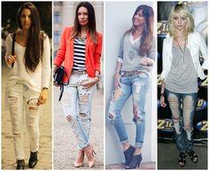Looks Com Calça Jeans Rasgada - Pesquisa Google