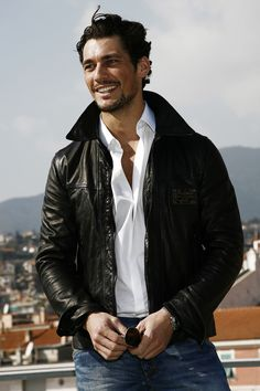 White shirt, black leather jacket, blue jeans - classic aaahhhhh