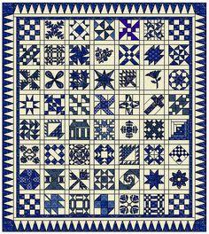 blue & white sampler quilt